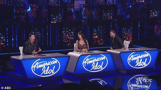 The judges: Lionel Richie, Katy and Luke Bryan critiqued the performances on the ABC show