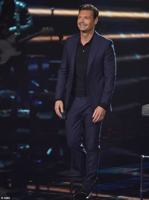 Into it:Show host Ryan, 46, was thrilled to encounter someone so peppy after facing his share of nervous and downright taciturn contestants throughout the show