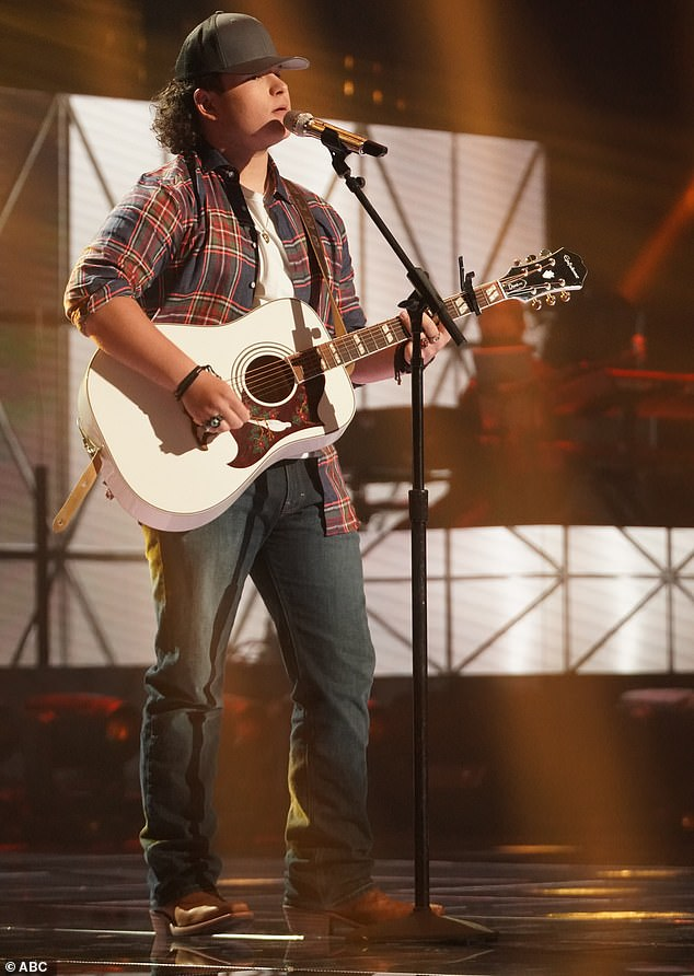 Country singer:Caleb Kennedy, 16, a high school student from Roebuck, South Carolina, moved in the next round with a seasoned-sounding cover of Chris Stapleton's Midnight Train To Memphis