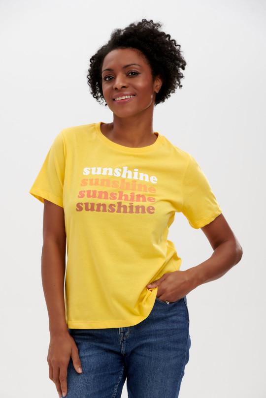 Sunshine sunshine sunshne yellow tshirt, Sugarhill Brighton