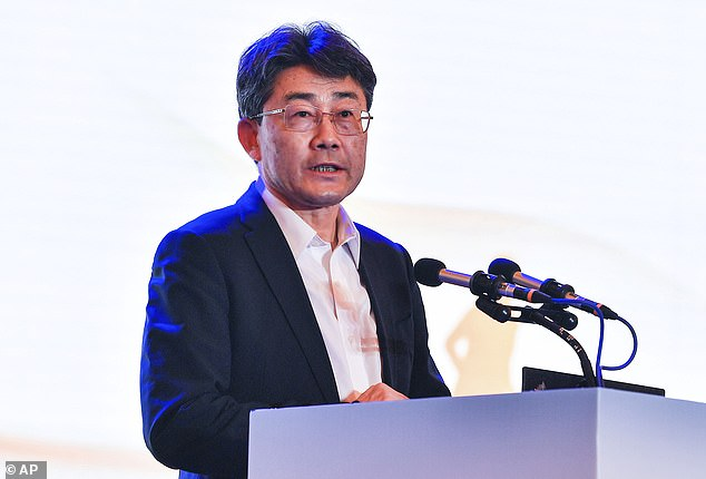 The director of the Chinese Centre for Disease Control and Prevention, Gao Fu, (pictured) said the vaccines made in China 'don't have very high protection rates' against covid symptoms