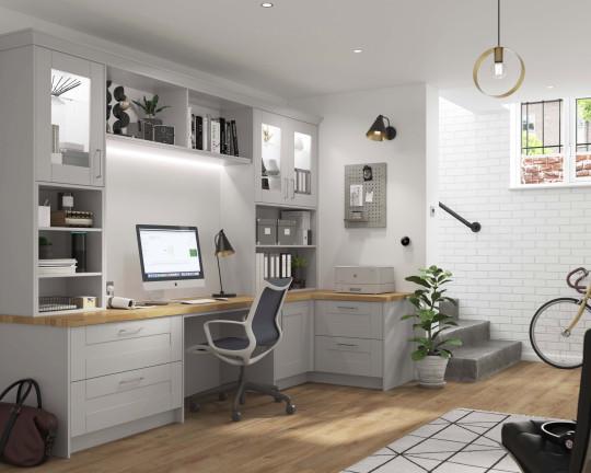 Wickes' Milton home office in dove grey