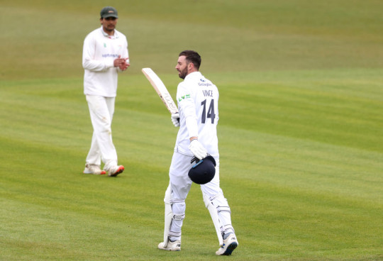 England hopeful James Vince produced the knock of the round