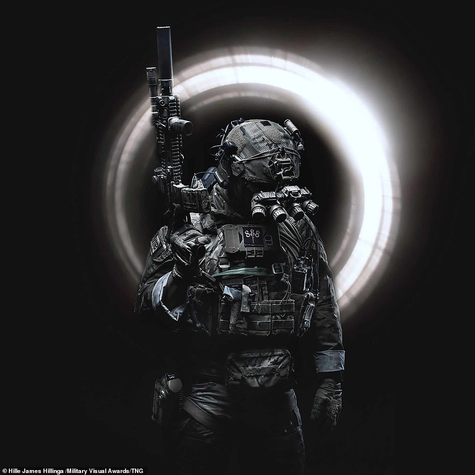 Entered as part of the Illustrative category, Dutch military photographer Hille James Hillinga captured this incredible snapshot which sees a Dutch SOF Korps commando holding their weapon with the backdrop of what looks like sunlight creeping into a tunnel