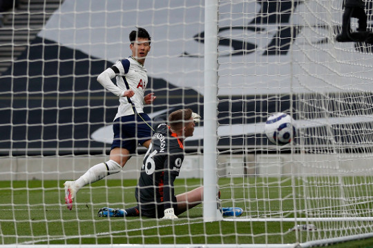 Son Heung-min put Tottenham in front during their defeat to Manchester United