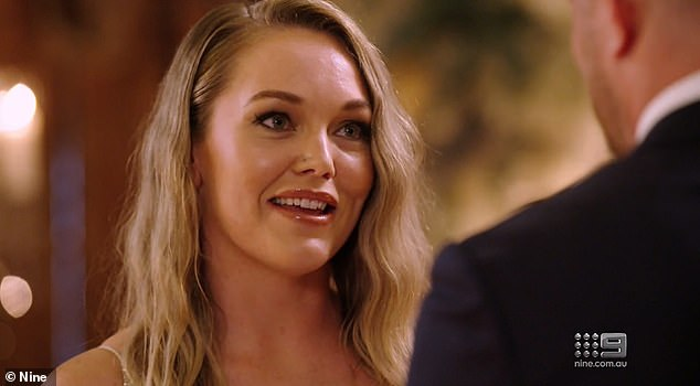 Staying: Melissa admitted rumours that Bryce had a secret girlfriend in Canberra had shaken her trust.However, she said: ''I can absolutely say with certainty that I'm in love with you'