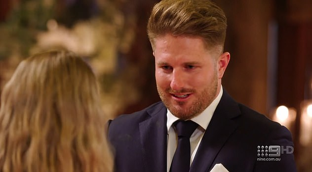 Love: 'Melissa, I have fallen in love with you. And I can't wait to start a life together,' Bryce said