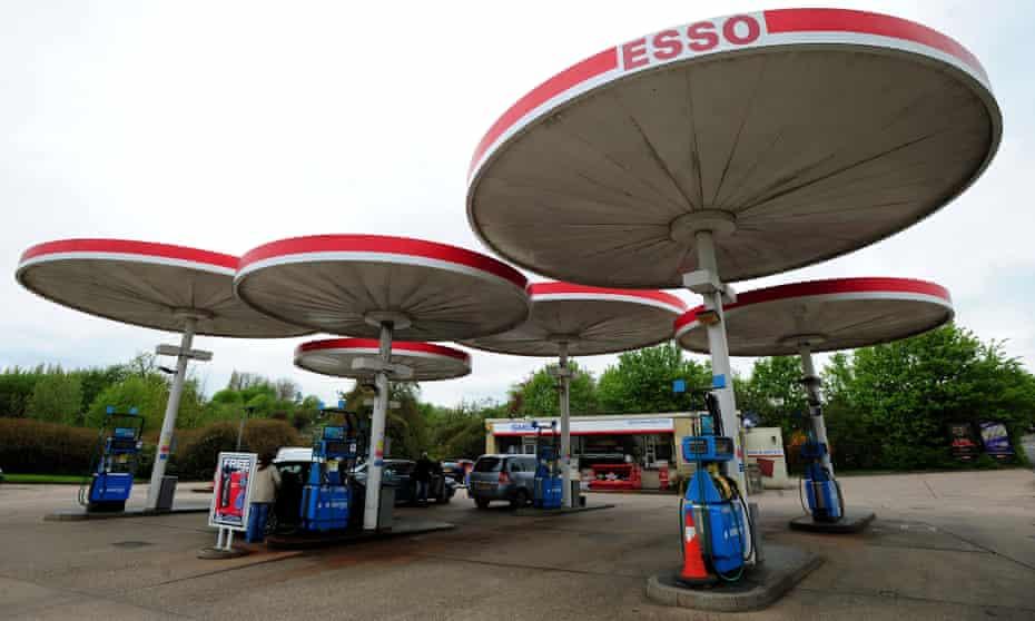 UFO influenced … Grade II-listed Esso garage in Birstall.