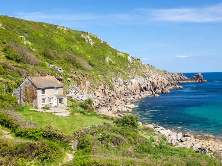 Sumers day at Lamorna Cove Cornwall England UK