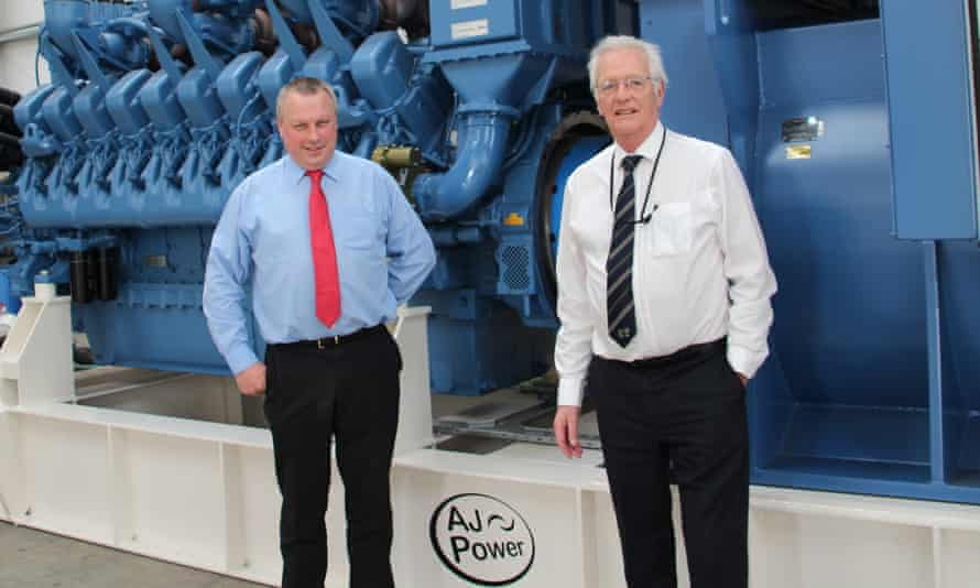 AJ Power operations Director DrJames Cochrane and managing director and chairman Ashley Pigott.