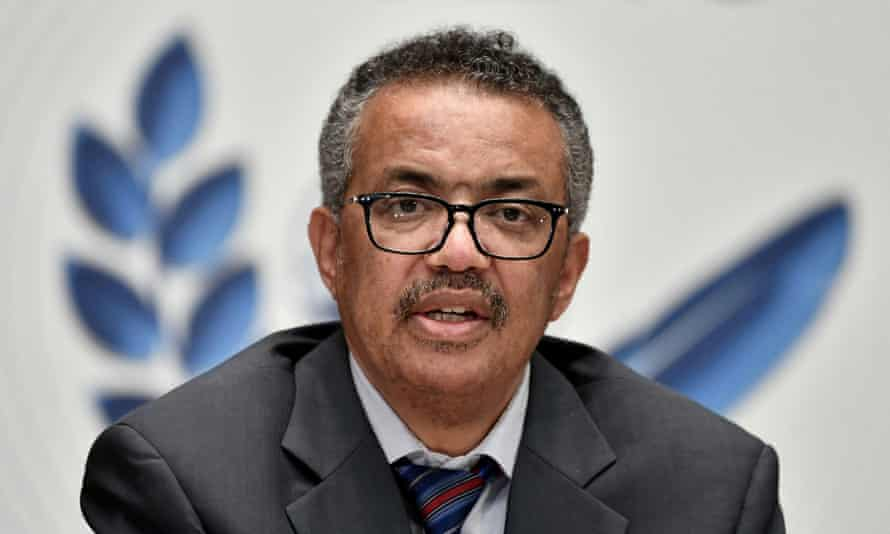 """World Health Organization Director-General Tedros Adhanom Ghebreyesus, seen here at a news briefing on coronavirus in July last year said """"some people appear to be taking the approach that if they're relatively young, it doesn't matter if they get Covid-19."""""""