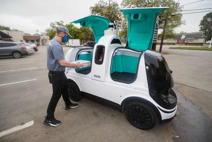 Customers can have Domino's delivered via R2, Nuro's custom, autonomous vehicle, starting this week.