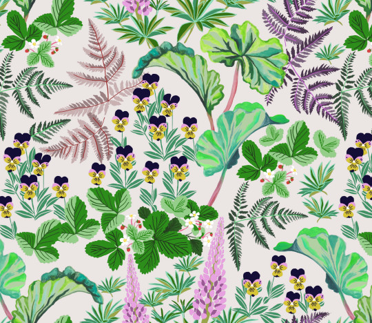 Turnstone House - nancy's printed pattern, strawberry fields
