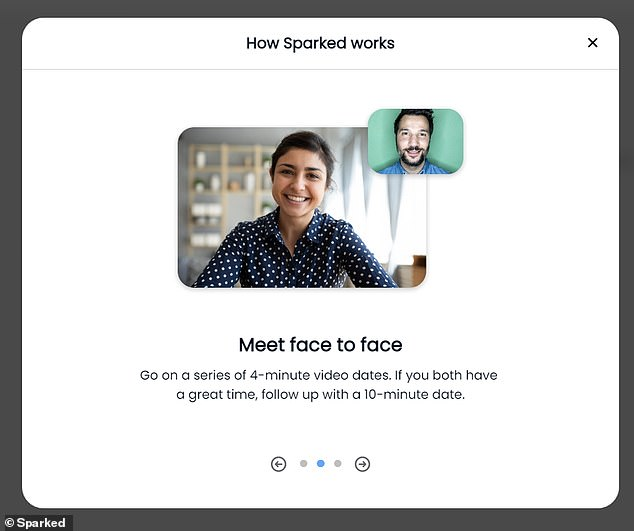 The app cycles users through four-minute sessions, then a 10-minute second date can be setup and after that, the conversation can move to Instagram, iMessage or email