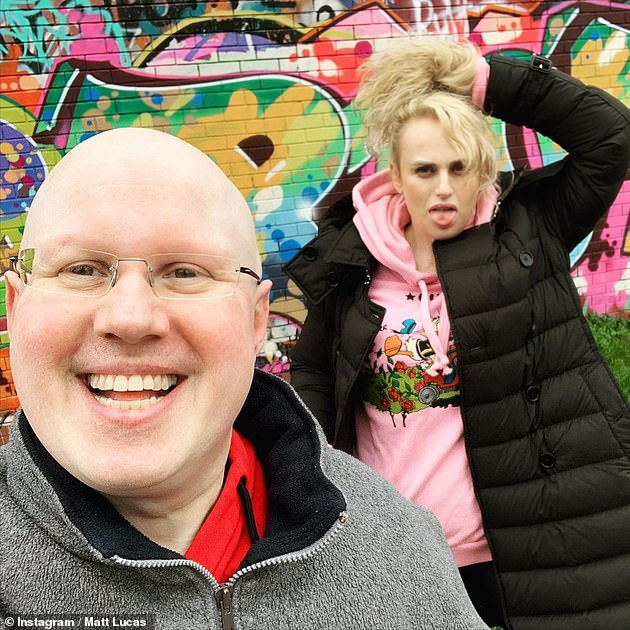 Reunited: During her time in the UK, the thespian caught up with her longtime friend, British comedian Matt Lucas