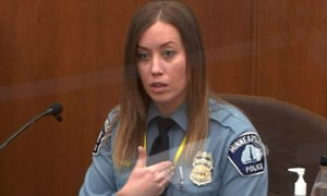 Nicole Mackenzie answers questions during the seventh day of Chauvin's trial.
