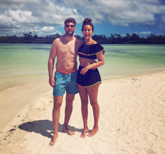 Carly Beasley and husband Kris in Mauritius on honeymoon in 2017, after her brain tumour diagnosis (Collect/PA Real Life)