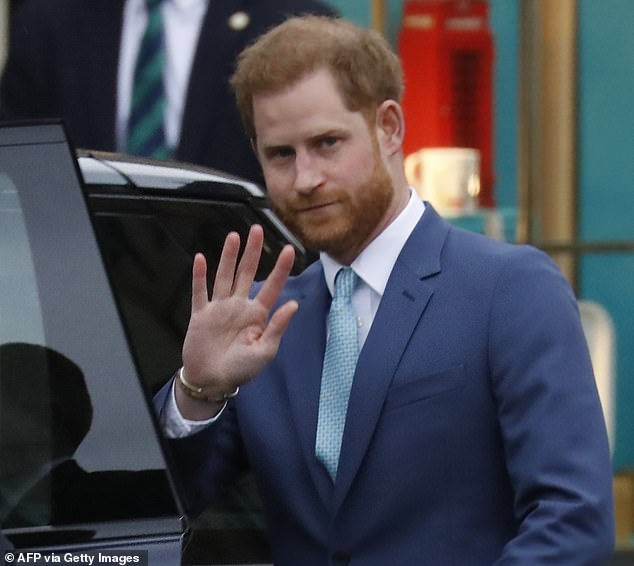 The court rejected the application, saying it was not proven that she had been speaking to Prince Harry, pictured above