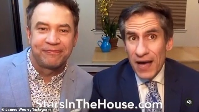 The Canadian 56-year-old said in a statement to People: 'I'm so grateful to [James Wesley and husband Seth Rudetsky (pictured in 2020)] for allowing us to use their incredible platform to do so'