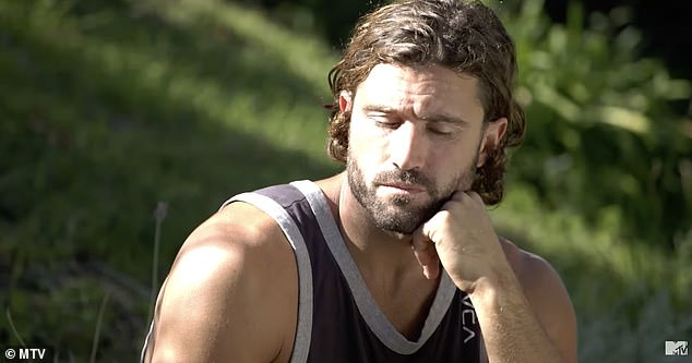 Focused:'I've hurt a lot of people that I've loved and that's not the Brody I want to be,' he says to her