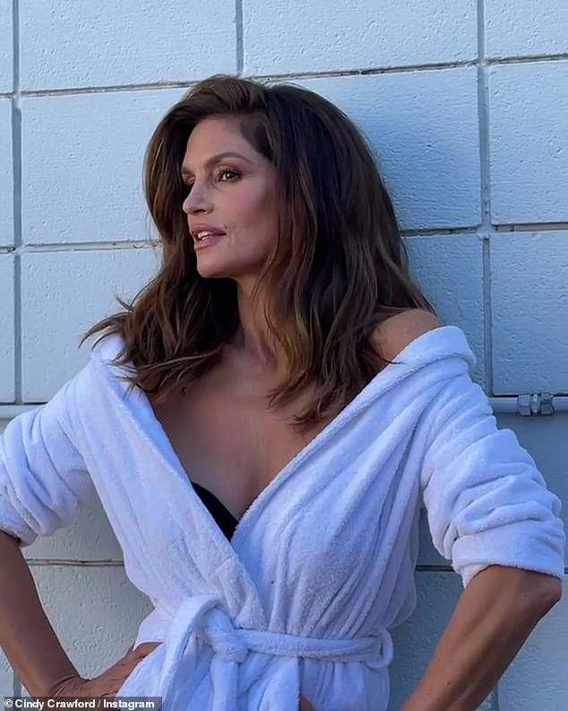 Still got it! The supermodel continues to build her brand as she models for her beauty line Meaningful Beauty; April 2
