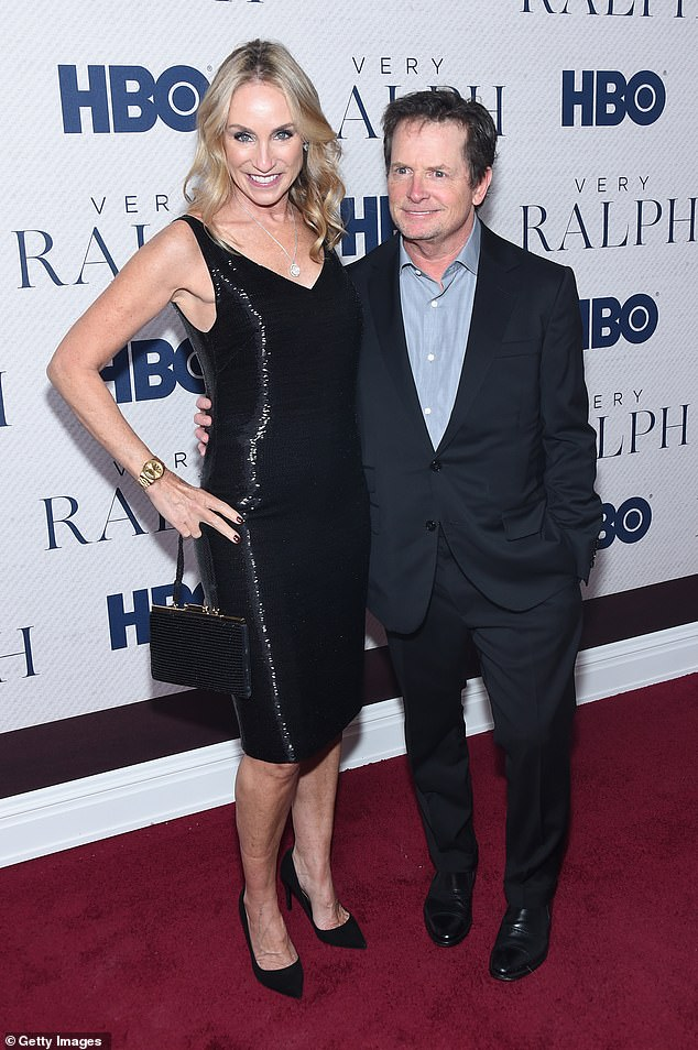 So close: The actor with his longtime wife Tracy Pollan at HBO's Very Ralph premiere at The Metropolitan Museum of Art in New York City in 2019