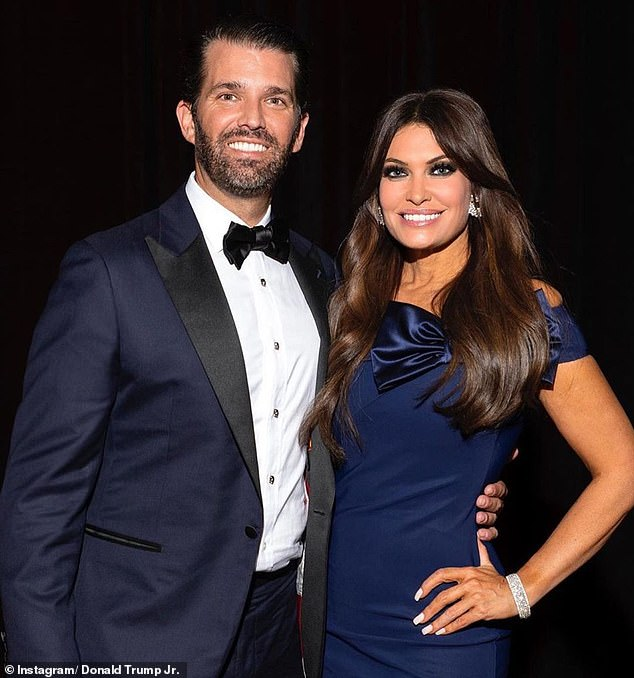 Moving south: Donald Trump Jr. and former Fox News host Kimberly Guilfoyle, who have been dating for about three years, recently purchased a property in nearby Jupiter, Florida