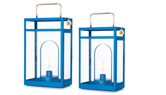 Bundleberry by Amanda Holden: set of two lanterns with removable lamps