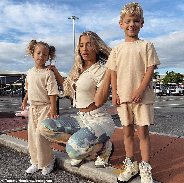 Family ties:Reece shares daughter Saskia and son Wolf, five, with his ex Tammy Hembrow, 26