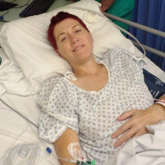 Fiona in hospital for radiotherapy in September 2016. PA REAL LIFE COLLECT