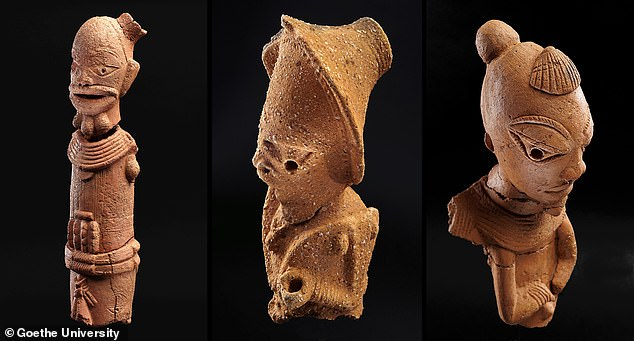 The Nok people are known for their remarkable large-scale terracotta figurines (pictured) and early iron production in West Africa, around the first millennium BC. But researchers also found evidence of beeswax in their pottery