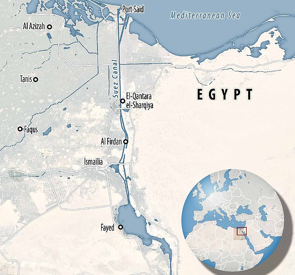 The Suez Canal links the Red Sea and the Mediterranean providing a short cut from the Indian Ocean to the Atlantic