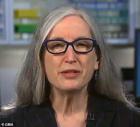 CDC Principal Deputy Director Dr Anne Schuchat said on Wednesday (pictured) that there is no currently no evidence J&J's vaccine is causing blood clots