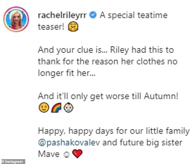 Guess what?The presenter asked her fans to figure out her latest Countdown teaser, which aptly spelt the phrase fertility