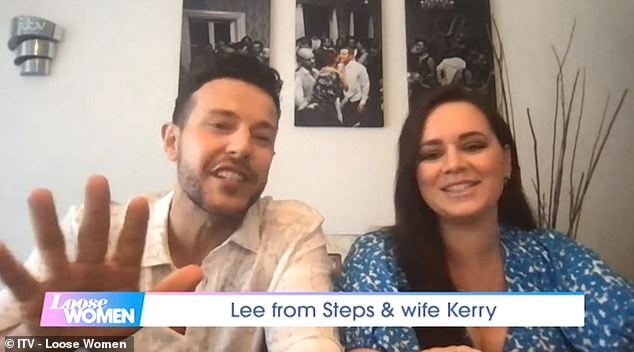 Shocked:Appearing on Thursday's Loose Women, Kerry-Lucy admitted she had to do three pregnancy tests before she could convince her husband it was positive
