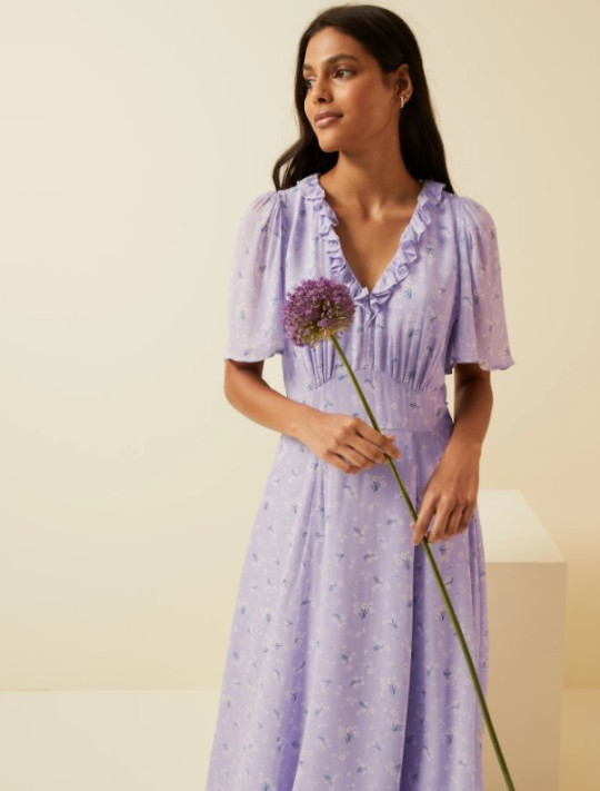 M&S and ghost purple dress