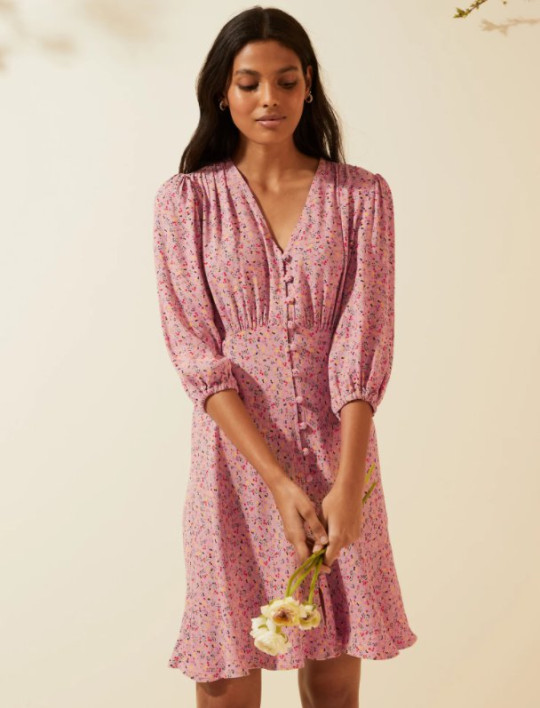 M&S and Ghost pink dress