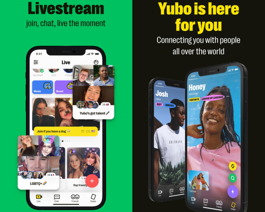 Yubo is all about livestreaming