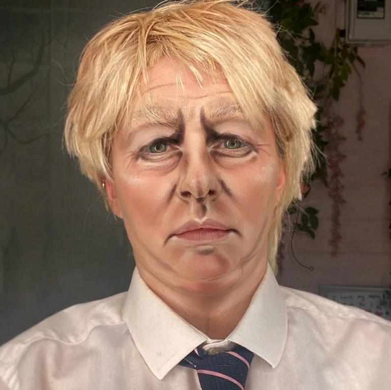 Liss Lacao's Boris Johnson face