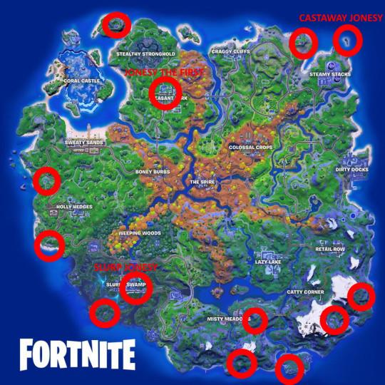 Fortnite Jonesy map