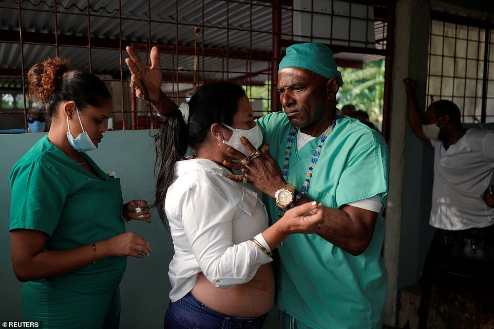 The spiritual healer'sunorthodox methods have increasingly attracted Cubans who are seeking alternatives to traditional medicines