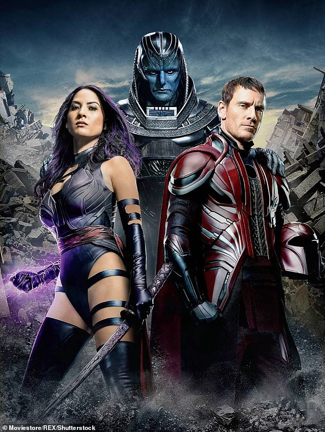 Movie star:She previously starred in X-Men: Apocalypse as Elizabeth Braddock/Psylocke, as well as in The Predator, The Newsroom and New Girl to name a few; seen with Michael Fassbender