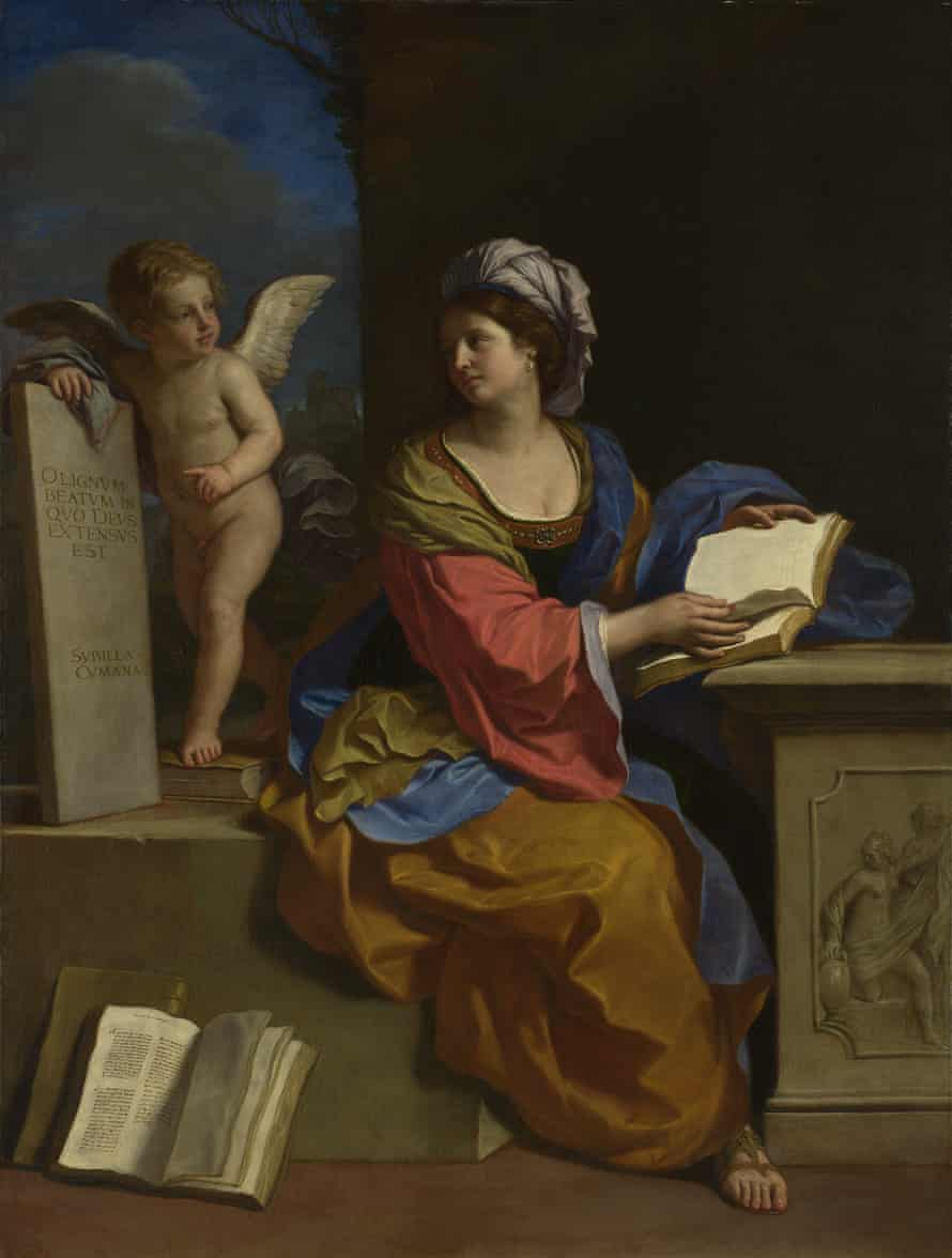 Guercino, The Cumaean Sibyl With a Putto, 1651.