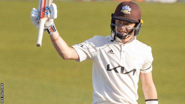 Ollie Pope reaches 50 for Surrey against Leicestershire