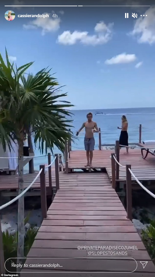 Cassie Randolph posted an Instagram Story showing her Mexican getaway with friends