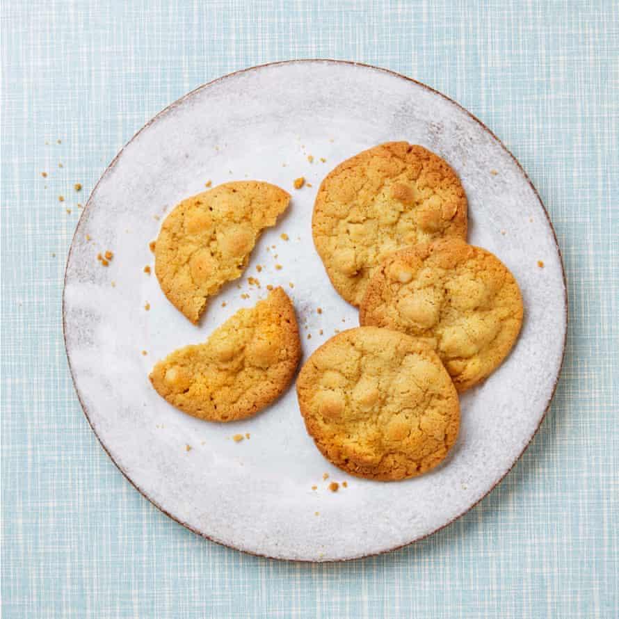 Nicola Lamb's crispy chewy orange and hazelnut cookies.