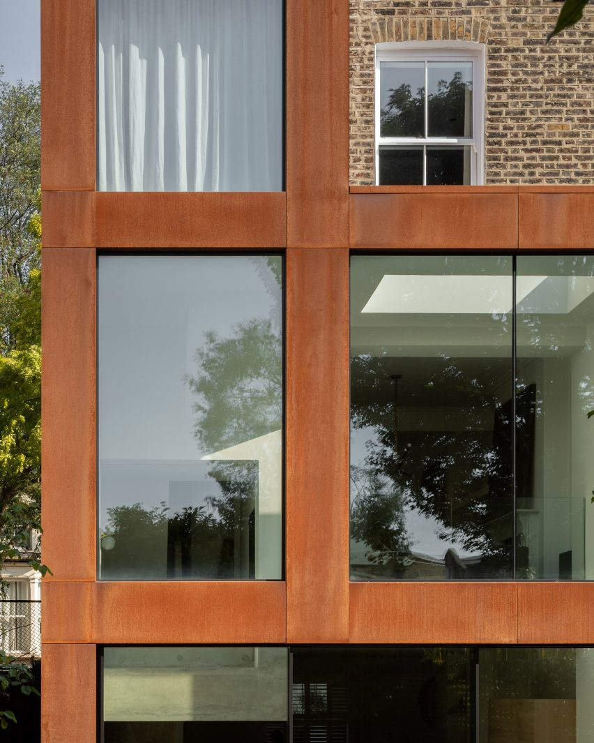 Weathering steel facade of AC Residence