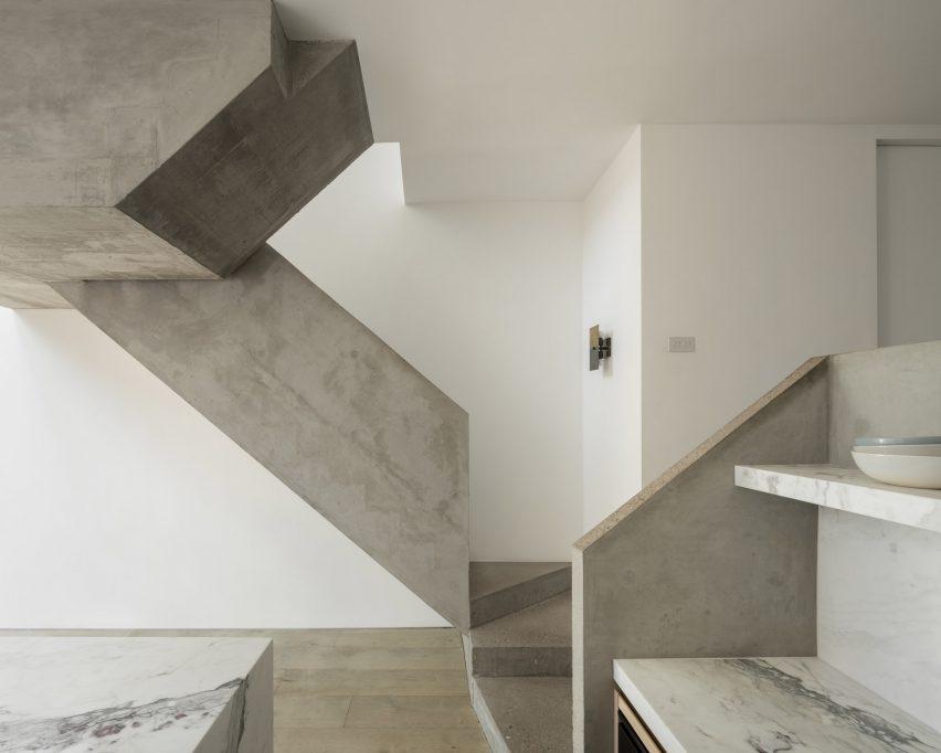 A statement concrete staircase