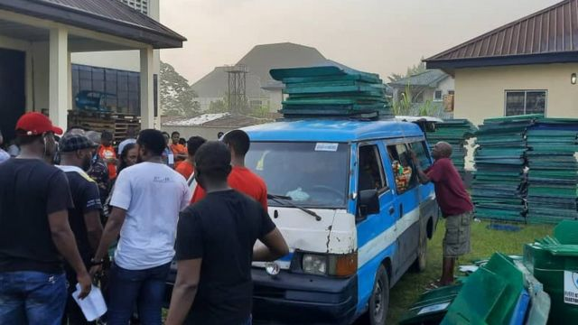 Di moment INEC officials begin distribution of materials across di local goment for Rivers State