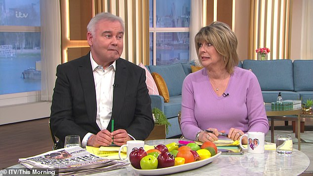 Health: Eamonn has been struggling with chronic pain after a dislocated pelvis made his back go 'out of alignment', and he said the device he uses 'really, really helps with your circulation'
